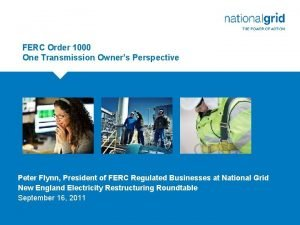 FERC Order 1000 One Transmission Owners Perspective DRAFT