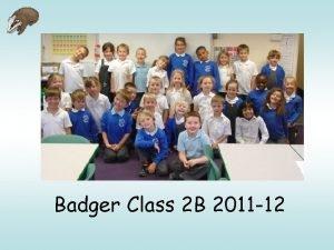 Badger Class 2 B 2011 12 Adults Class
