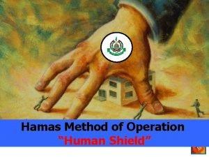 Hamas Method of Operation Human Shield Civilians as