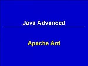 Java Advanced Apache Ant jarzip jar zip l