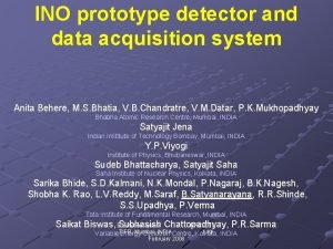 INO prototype detector and data acquisition system Anita