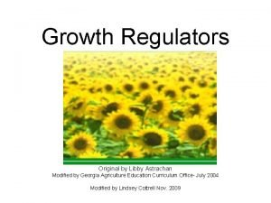 Growth Regulators Original by Libby Astrachan Modified by
