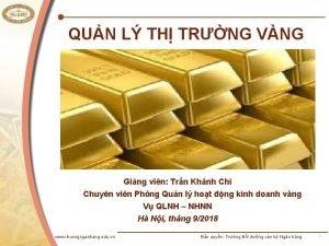 QUN L TH TRNG VNG Ging vin Trn