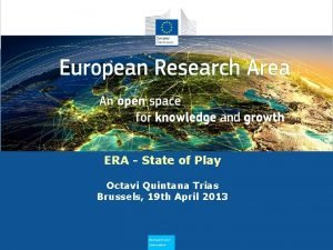 Why does ERA Need to Flourish ERA State