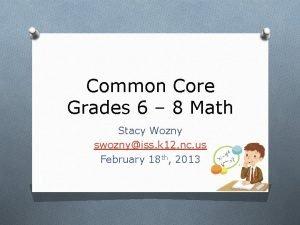 Common Core Grades 6 8 Math Stacy Wozny