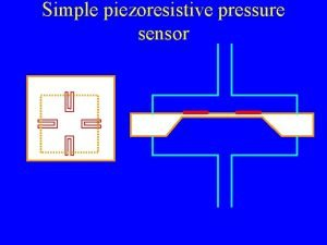 Simple piezoresistive pressure sensor Simple piezoresistive accelerometer Simple
