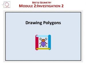 BEETLE GEOMETRY MODULE 2 INVESTIGATION 2 Drawing Polygons