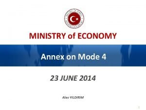 MINISTRY of ECONOMY Annex on Mode 4 23