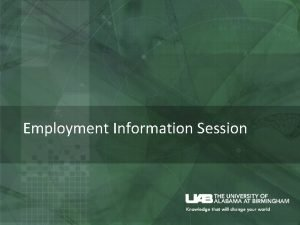 Employment Information Session CPT Curricular Practical Training CPT