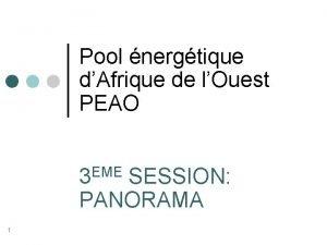 Pool nergtique dAfrique de lOuest PEAO EME 3