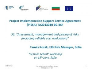 Project Implementation Support Service Agreement PISSA TA 2013040