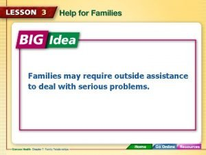Families may require outside assistance to deal with