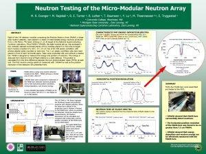 Neutron Testing of the MicroModular Neutron Array M