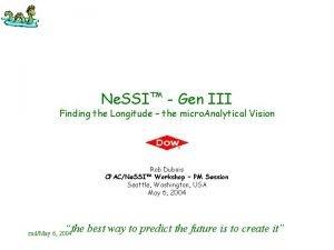 Ne SSI Gen III Finding the Longitude the