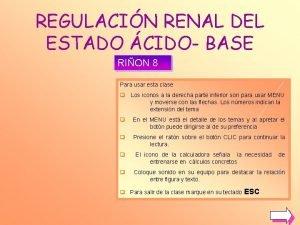 REGULACIN RENAL DEL ESTADO CIDO BASE RION 8