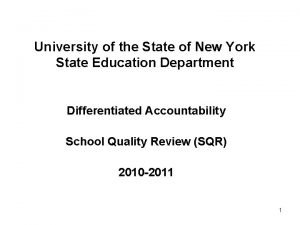 University of the State of New York State