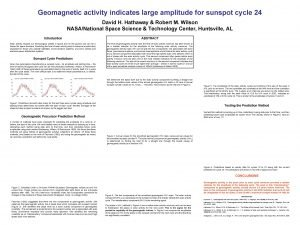 Geomagnetic activity indicates large amplitude for sunspot cycle