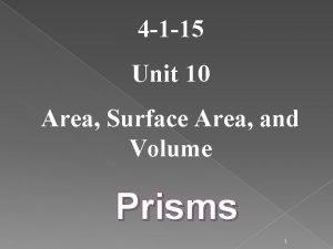 4 1 15 Unit 10 Area Surface Area