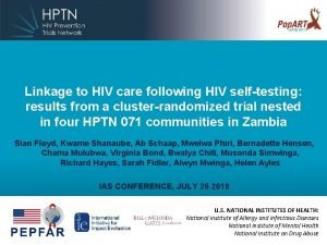 Linkage to HIV care following HIV selftesting results