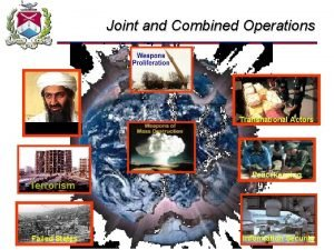 Joint and Combined Operations Transnational Actors NonState Actors