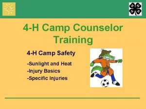 4 H Camp Counselor Training 4 H Camp