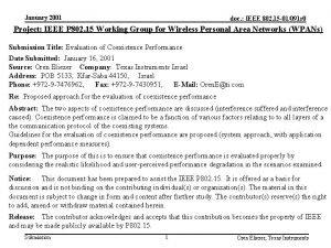 January 2001 doc IEEE 802 15 01091 r