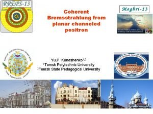 Coherent Bremsstrahlung from planar channeled positron Yu P