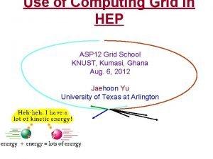 Use of Computing Grid in HEP ASP 12