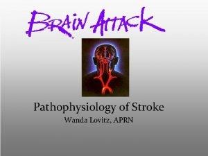 Pathophysiology of Stroke Wanda Lovitz APRN Objectives Stroke