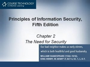 Principles of Information Security Fifth Edition Chapter 2