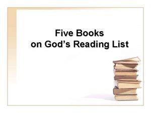 Five Books on Gods Reading List The Books