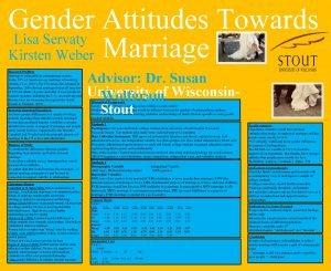 Gender Attitudes Towards Lisa Servaty Marriage Kirsten Weber
