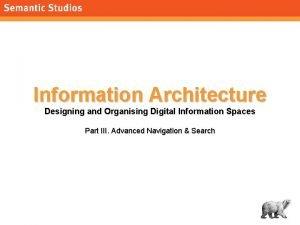 morvillesemanticstudios com Information Architecture Designing and Organising Digital
