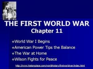 THE FIRST WORLD WAR Chapter 11 v World