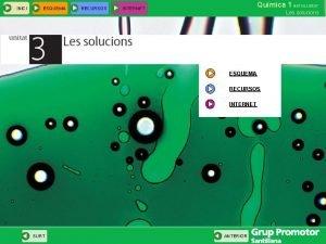 INICI ESQUEMA RECURSOS Qumica 1 BATXILLERAT INTERNET Les