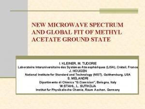 NEW MICROWAVE SPECTRUM AND GLOBAL FIT OF METHYL