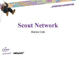 Scout Network Bianca Cole What is Scout Network