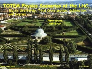 TOTEM Physics Scenarios at the LHC Elastic Scattering