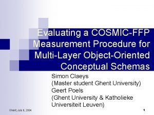 Evaluating a COSMICFFP Measurement Procedure for MultiLayer ObjectOriented
