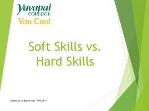 Soft Skills vs Hard Skills Created by Linda