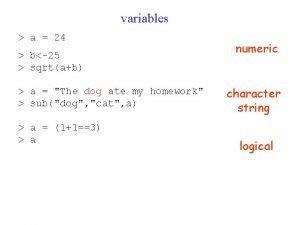 variables a 24 b25 sqrtab a The dog