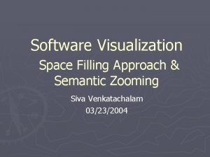 Software Visualization Space Filling Approach Semantic Zooming Siva
