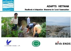 ADAPTS VIETNAM Handbook of Adaptation Measures for Local