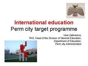 International education Perm city target programme Vera Zakharova