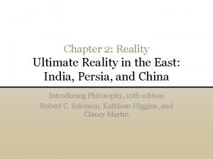 Chapter 2 Reality Ultimate Reality in the East
