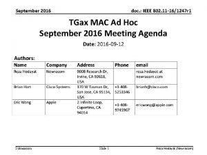 September 2016 doc IEEE 802 11 161247 r