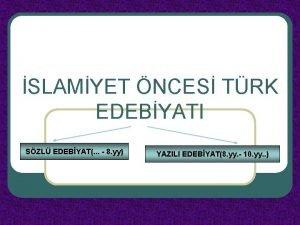 SLAMYET NCES TRK EDEBYATI SZL EDEBYAT 8 yy