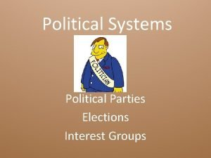 Political Systems Political Parties Elections Interest Groups Essential