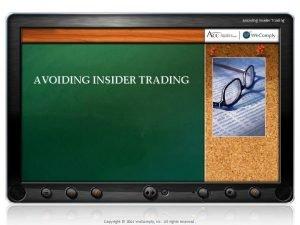 Avoiding Insider Trading AVOIDING INSIDER TRADING Copyright 2010
