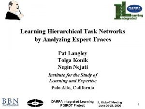 Learning Hierarchical Task Networks by Analyzing Expert Traces